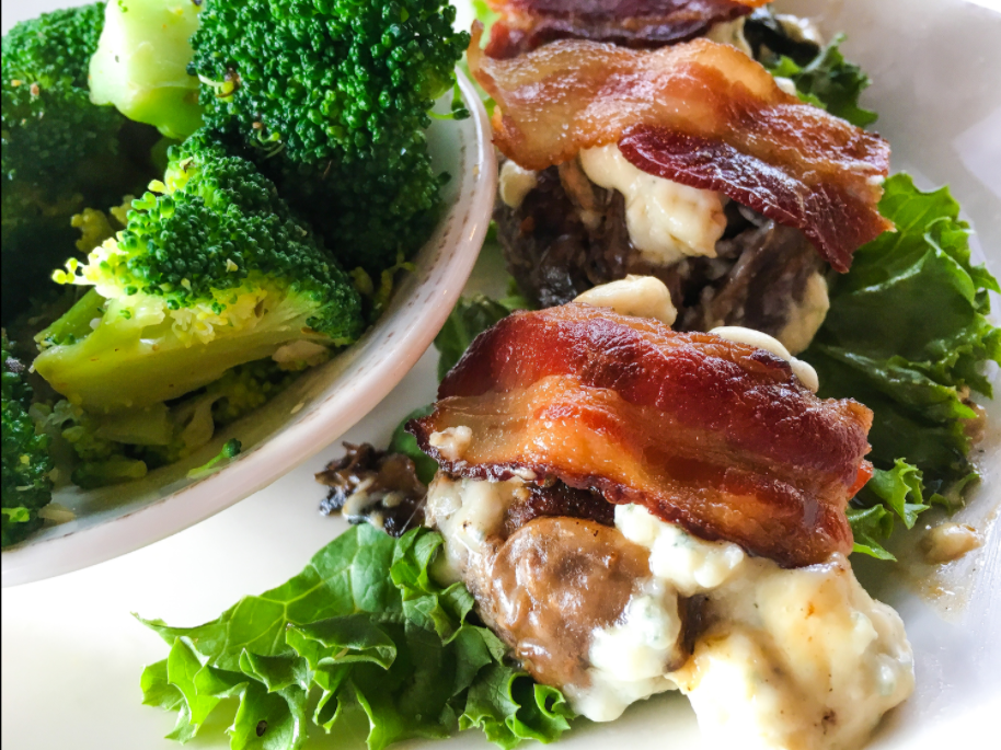 Bacon,Blue Cheese, and MushroomSliders
