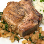 Apple and Rosemary Stuffed Pork Chops