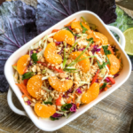 Asian Cabbage Salad withWarmSpicy Peanut Dressing