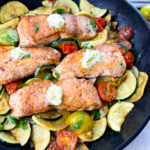 Crispy Salmon with Herb Butter
