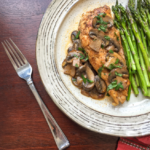 Chicken Lanzone With Mushrooms