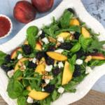 PeachBlackberrySalad with Blackberry–Basil Vinaigrette