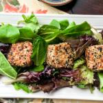Seared Sesame Tuna Salad with Mixed Greens