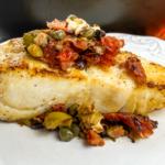 White Fish with Sun-Dried Tomato Tapenade